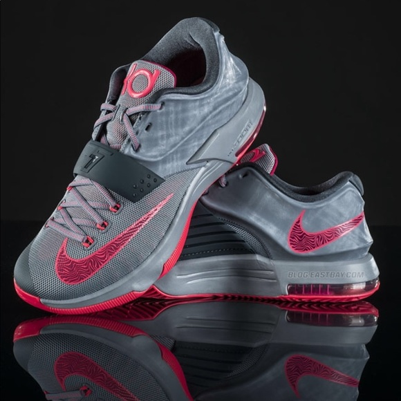 best sneakers be791 65944 NIKE KD VII 7. CALM BEFORE THE STORM. Gray & Pink.